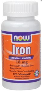 Iron - 18 mg - 120 vcaps