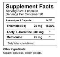 Acetyl L-Carnetine - 90 caps