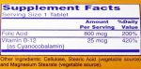 Folic Acid 800 mg - 250 tabs