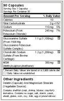 Glucosamine, Chondoitrin and MSM 90 caps